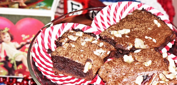 Kahlua-Walnut Brownies