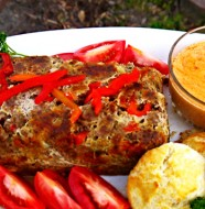 sundried-tomato-meatloaf-with-tomato-gravy