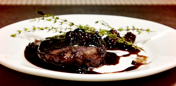 Blackberry-Thyme Pork Chops